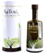 Huile d'olive vierge extra Carrasqueña écologique Baeturia + étui