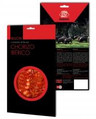 Chorizo ibérique nourri de glands Revisan tranché