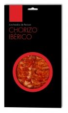 Chorizo ibérique nourri en pâturages Revisan tranché