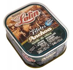 Filet d'anchois à l'huile d'olive série limitée Lolin