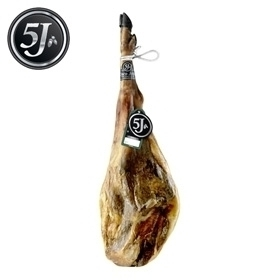 Jambon pata negra 100% ibérique nourri de glands Cinco Jotas - 5J entier