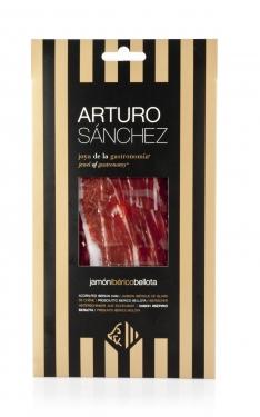 Jambon pata negra ibérique nourri de glands coupé à la main grande réserve spéciale Arturo Sánchez