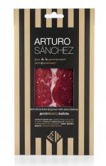 Jambon pata negra ibérique 100% pur nourri de glands grande réserve spéciale Arturo Sanchez en tranches coupées à la main