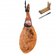 Jambon serrano espagnol duroc grande réserve Artysán entier + porte jambon + couteau