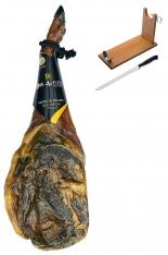 Jambon pata negra ibérique (Épaule) nourri de glands Don Agustin Qualité Supérieure entier + porte jambon + couteau