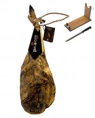 Jambon pata negra ibérique (Épaule) nourri au gland Don Agustin Qualité Supérieure entière + porte jambon + couteau