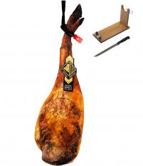 Jambon pata negra ibérique (Épaule) nourri au gland entière réserve spéciale Arturo Sanchez + porte jambon +couteau