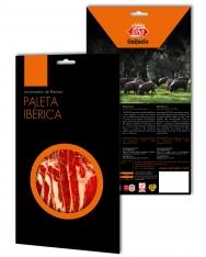 Jambon pata negra ibérique (Épaule) nourri en pâturage Revisan tranché