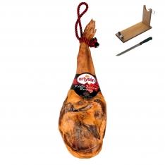 Jambon serrano espagnol (Épaule) réserve duroc Artysán entier + support à jambon + couteau