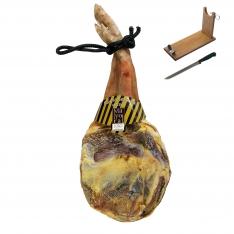 Jambon serrano espagnol (Épaule) réserve Mayoral entier + support à jambon + couteau