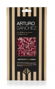 Saucisson ibérique entier nourri de glands coupé à la main grande réserve spéciale Arturo Sánchez