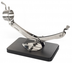 Support à jambon articulé giratoire 360º inox noir Steelblade