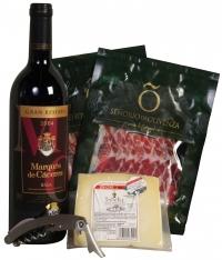 Vin Rouge et Jambon spécial Noël